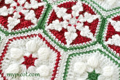 @ MyPicot - Free Christmas hexagon crochet patterns, divine, thanks so for tutorial and share xox