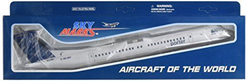 Daron Skymarks Porter Q400, 1/100-Scale:   About Daron Worldwide Trading Daron Worldwide Trading is the largest source of aviation collectibles. Their products range from jets to propeller planes, commercial use to law enforcement, and more. With licensing agreements with most major airlines, as well as the police and fire departments of New York, Daron offers the largest variety of authentic and accurate collectible model airplanes available. Beautiful replica for display. Solid plast...