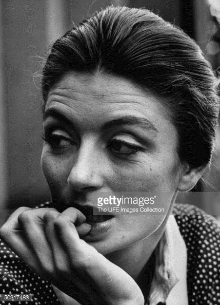 French actress Anouk Aimee.