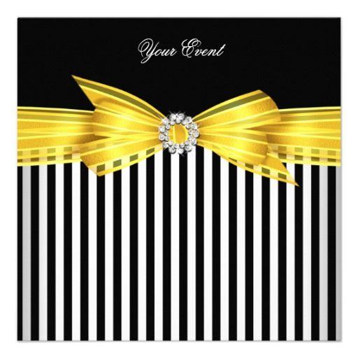 Striped party invitations