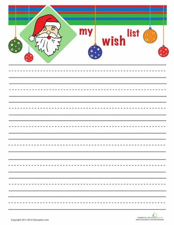 285 best Printables (\ Digital Stuff) images on Pinterest Free - christmas wish list paper