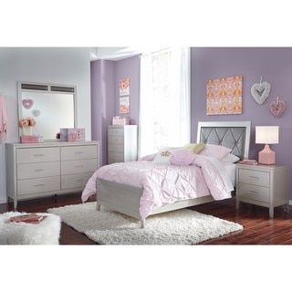 Shop For Signature Design By Ashley Olivet Silver Twin Bed Get Free Delivery At Overstock