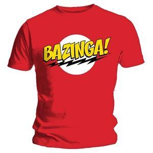 Trademark Big Bang Theory Men's Bazinga T-Shirt (Red)