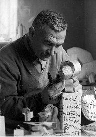 Jorge Oteiza working on his Experimental Laboratory 1956-57