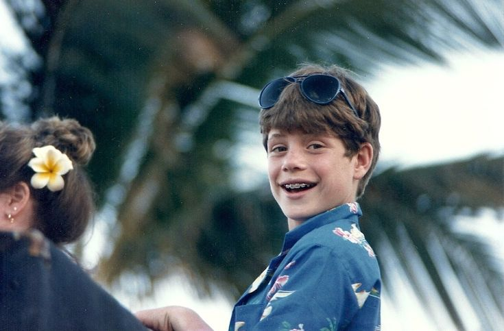 1. Sean Astin, with the look of a kid who got to play around on a real pirate ship for months. The Goonies