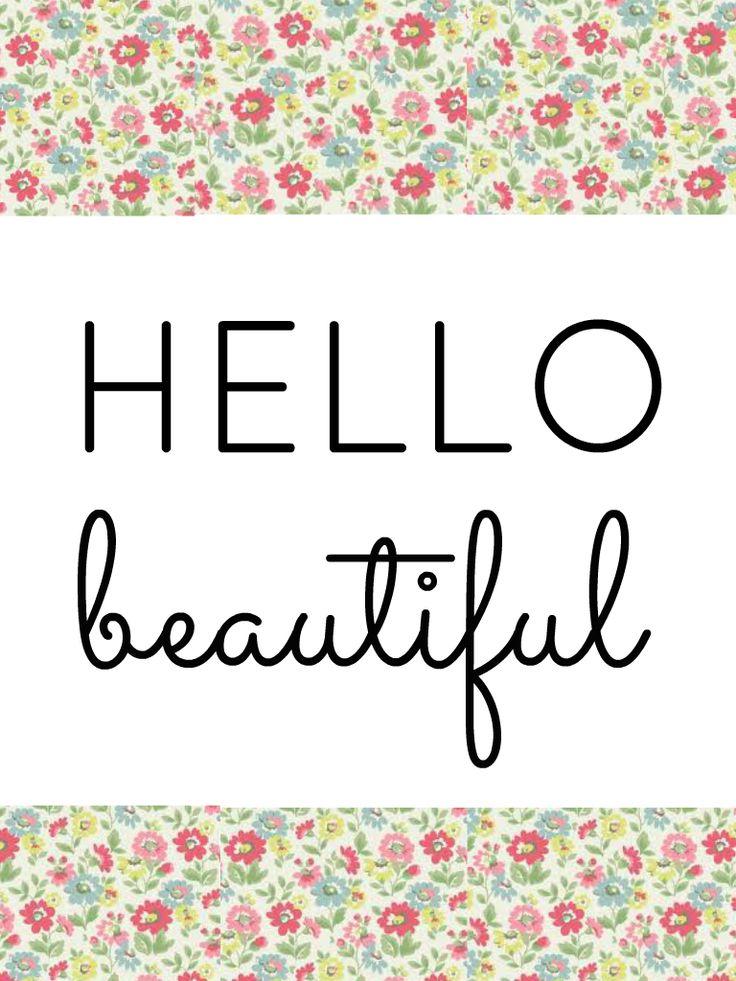 Hello Beautiful Digital Wallpaper For IPad Mini