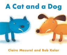 A cat and a dog by Claire Masurel and Bob Kolar. Cat and dog fight all the time then something happens and they become best friends! Lovely simple illustrations of feelings that children can easily understand and relate too
