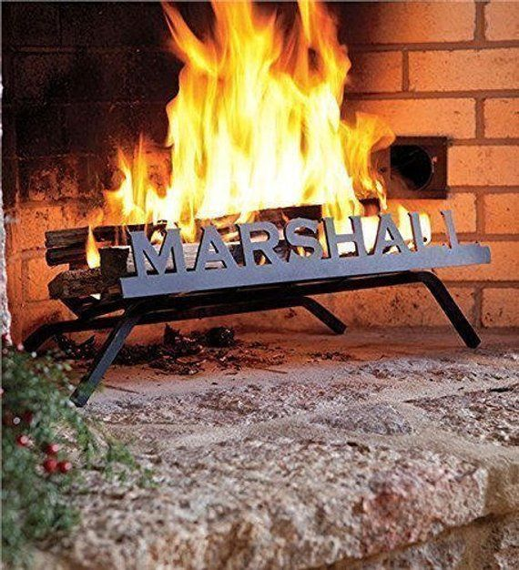 Personalized Fireplace Grate Block, Personalized Fireplace Grate