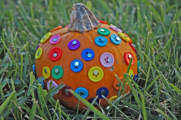Button pumpkins! Great fine motor activity too!
