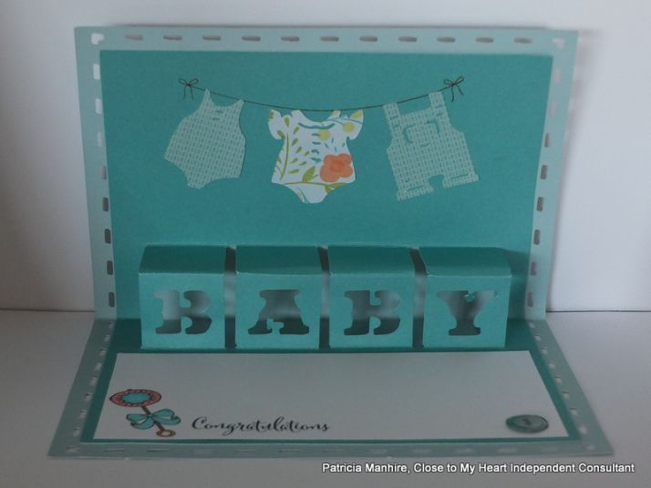 #CTMH Artfully Sent Baby Card