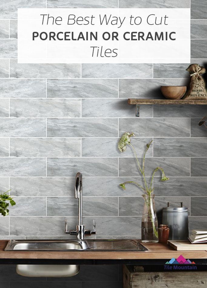 how to cut porcelain tile without a tile cutter