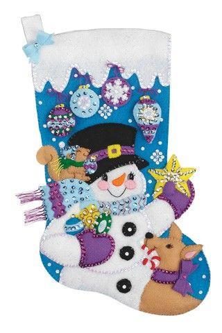 Frosty's Favorite Janlynn Christmas Stocking Kit