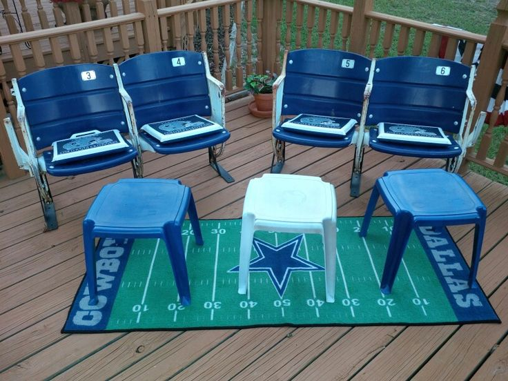 The actual stadium seats from Dallas Cowboys Texas Stadium, that my folk's had season tickets with for years. Season ticket holders were given option to purchase their seats prior to the stadium demolition. A lot of memories from sitting in these seats!