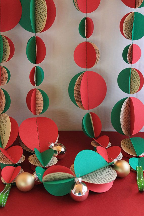 Vintage Christmas Garland 3m or 6m by ALittleBitOfLemon on Etsy