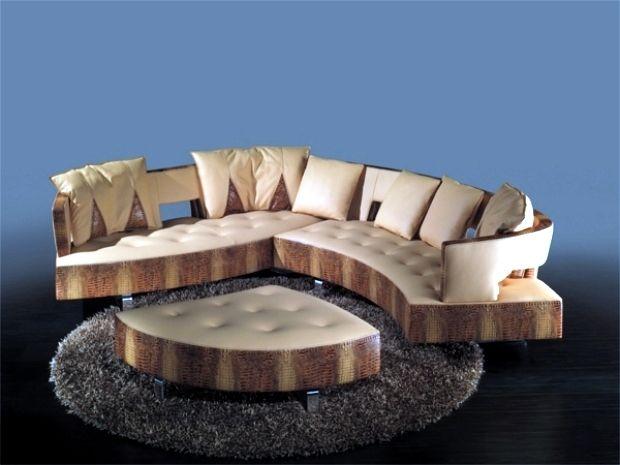 The new leather modular sofa with futuristic shape Formenti home - das modulare ledersofa heart formenti