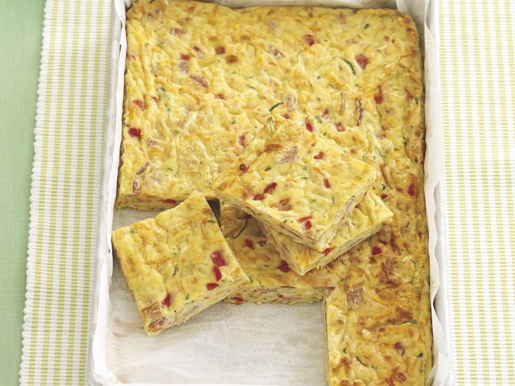 This easy to make slice makes a great meal served with salad. And it's perfect for the lunchbox too!