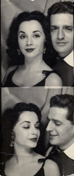 1950's photobooth photo. Back when people dressed appropriately and acted like ladies and gentlemen. sheesh.