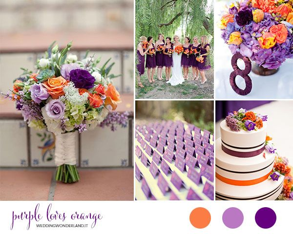 purple and orange wedding inspiration