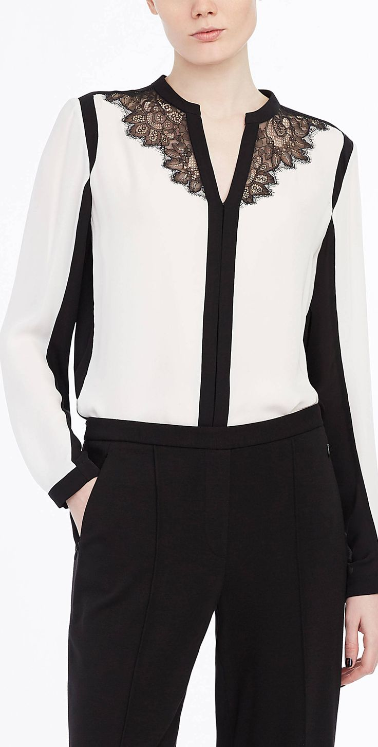 Best 25  Black and white blouse ideas on Pinterest | Black and ...