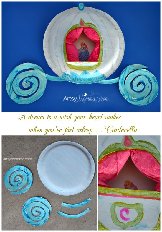 Cinderella's Carriage Paper Plate Craft