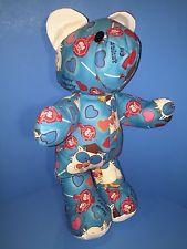 "Tootsie Roll Pop Teddy Bear Plush Cotton Fabric Candy Owl Handmade 15"" Unique"