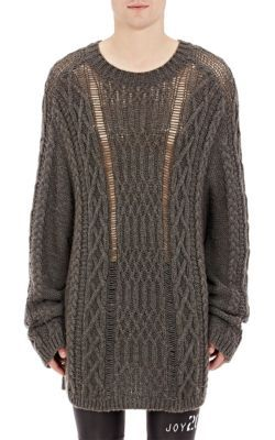 Maison Margiela Mixed-Stitch Oversized Sweater at Barneys New York