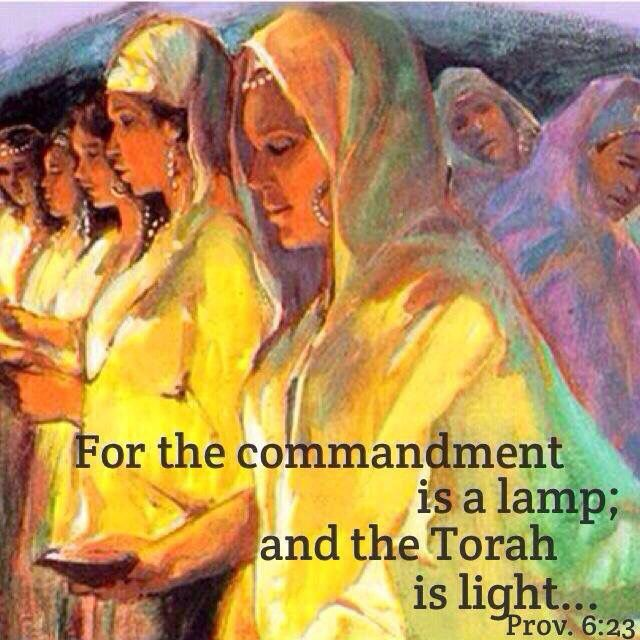 For the mitzvah is a lamp, Torah is light, and reproofs that discipline are the way to life. -- Proverbs 6:23