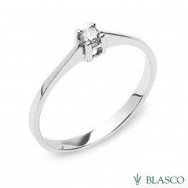 solitario de diamante de oro blanco #anillos #solitarios #rings #joyasenoferta #jewels