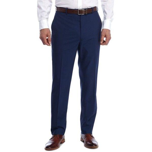 Adolfo  Royal Blue Slim Fit Dress Pants (2.270 RUB) ❤ liked on Polyvore featuring men's fashion, men's clothing, men's pants, men's dress pants, blue, mens stretch dress pants, mens slim fit suit pants, mens slim fit dress pants, mens royal blue pants and mens slim pants