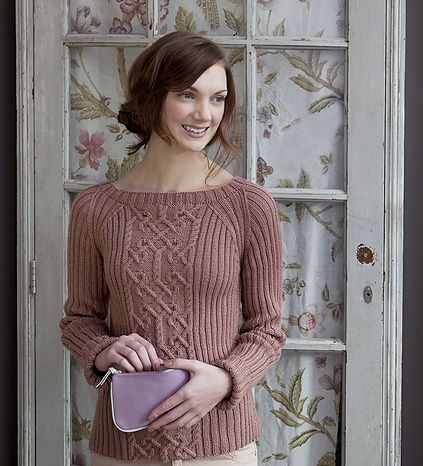 how to change insert sleeves to raglan knitting