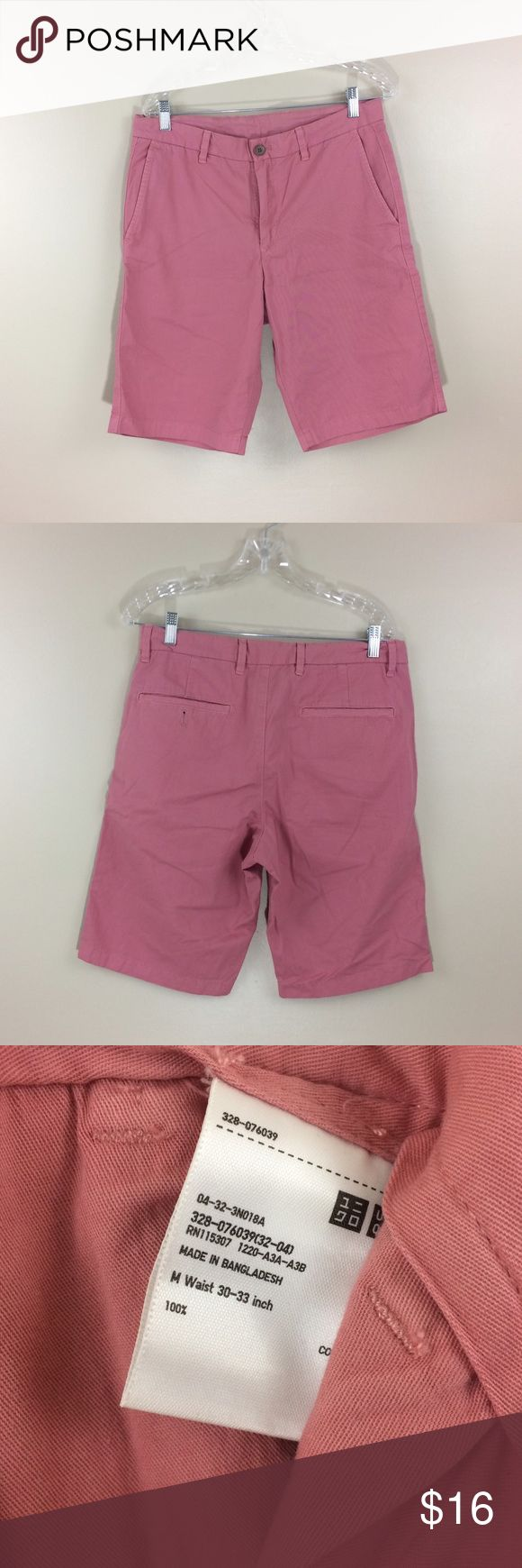 Uniqlo - faded pink - Shorts W30-33 Good condition no rip, hole or stains. Uniqlo Shorts Flat Front