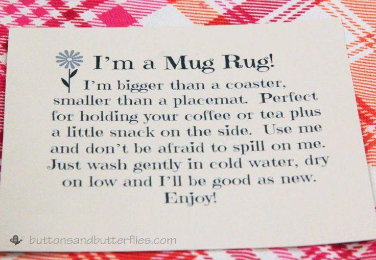 What is a Mug Rug?                                                       …