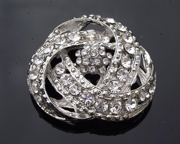 Wedding Brooches - Art Deco Style Brooch, Rhinestone Sash Pin, Eire