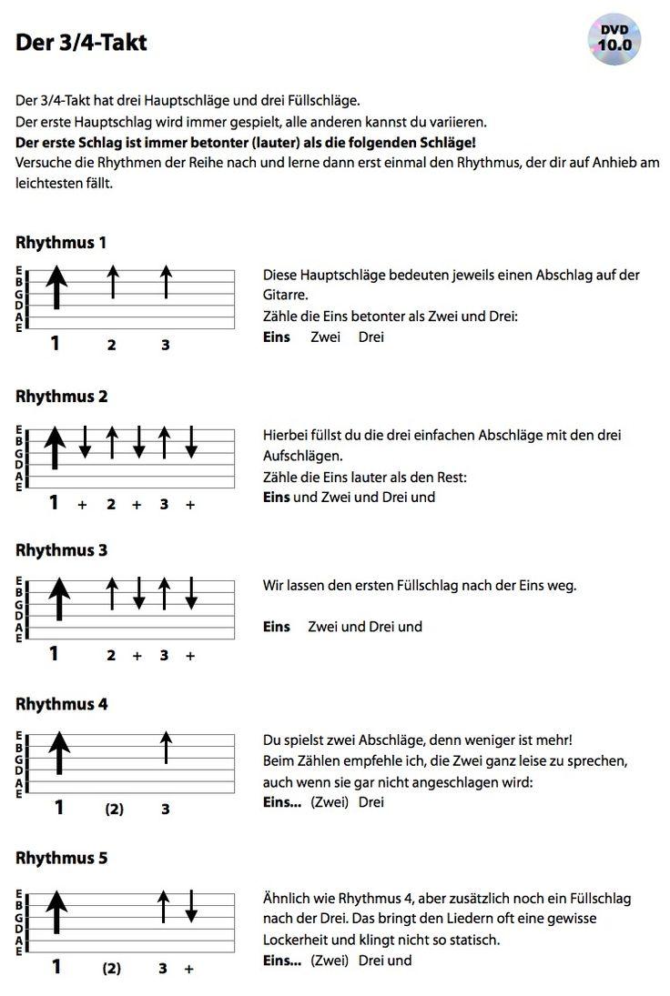 Es geht weiter mit dem 3/4 Takt. Für viele Anfänger ist dieser neue Takt eine echte Herausforderung, deshalb umso öfter mit den geeigneten Liedern üben.