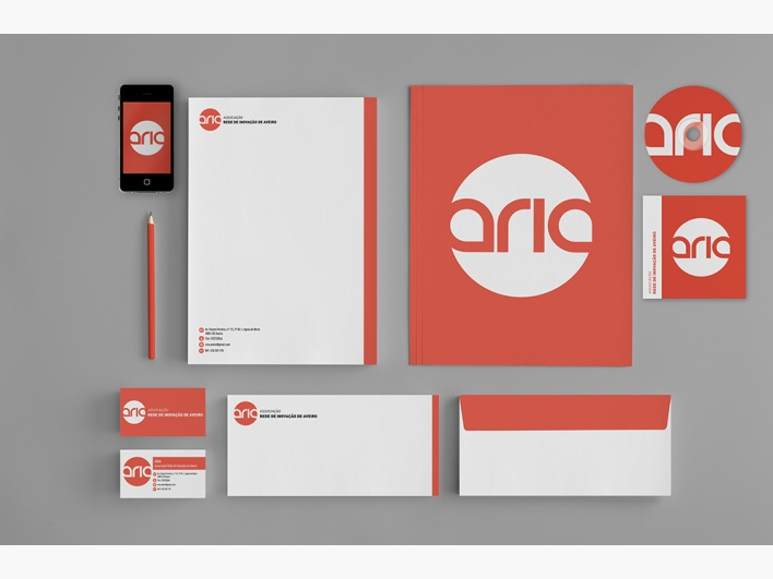 """ARIA"" by Marisa Passos: Bronze Winner - Logo Design Category - Monthly Design Award August 2012"