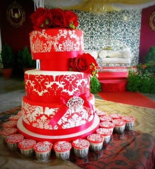 Torte nuziali rosse