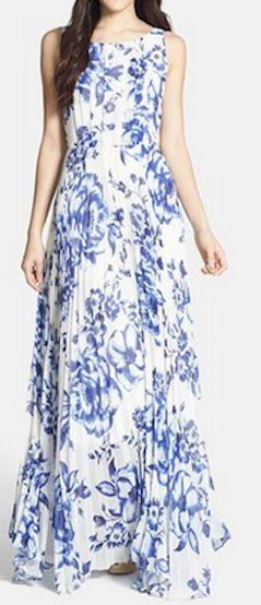 Gorgeous pleated chiffon maxi dress http://rstyle.me/n/g8fzcnyg6