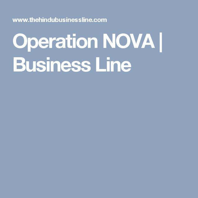 Operation NOVA | Business Line