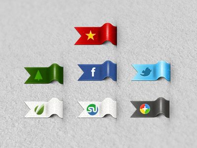 Dribbble - Social Ribbons by Oliviu S.