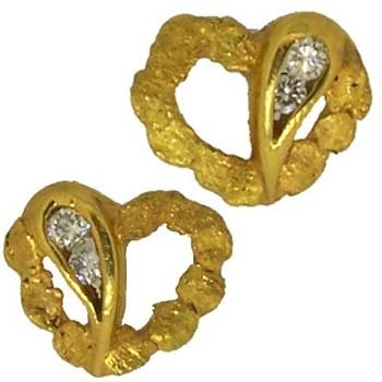 42 best Gold Nugget Earrings images on Pinterest Gold earrings