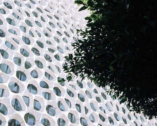 green design, eco design, sustainable design, Hospital Manuel Gea Gonzalez, Torre de Especialidades, Elegant Embellishments, prosolve370e, Mexico City, Urban air filtration system, double skinned air filter