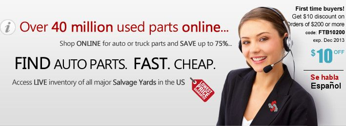 This website has made it an one stop shop for you to get your automotive parts and save your money along with the safety of buying used parts that have been certified.