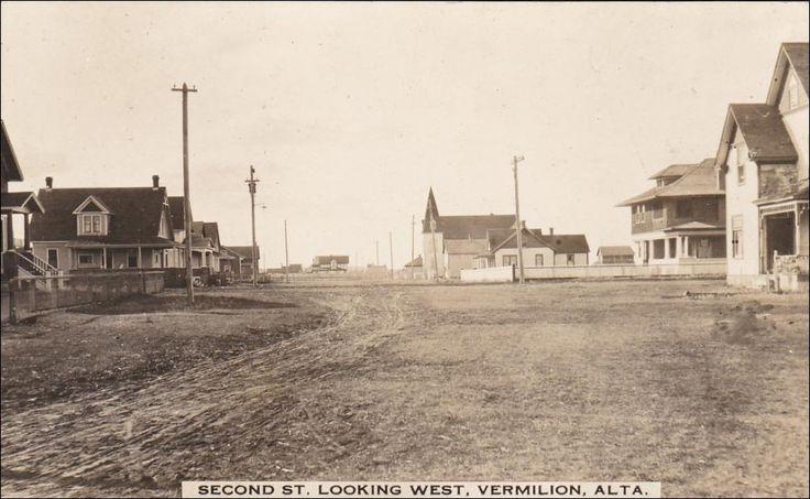 RP: Second Street , Looking West , VERMILION , Alberta , Canada , 00-10s