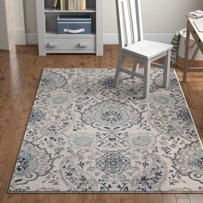 Mistana Katie Traditional Cream Light Grey Area Rug In