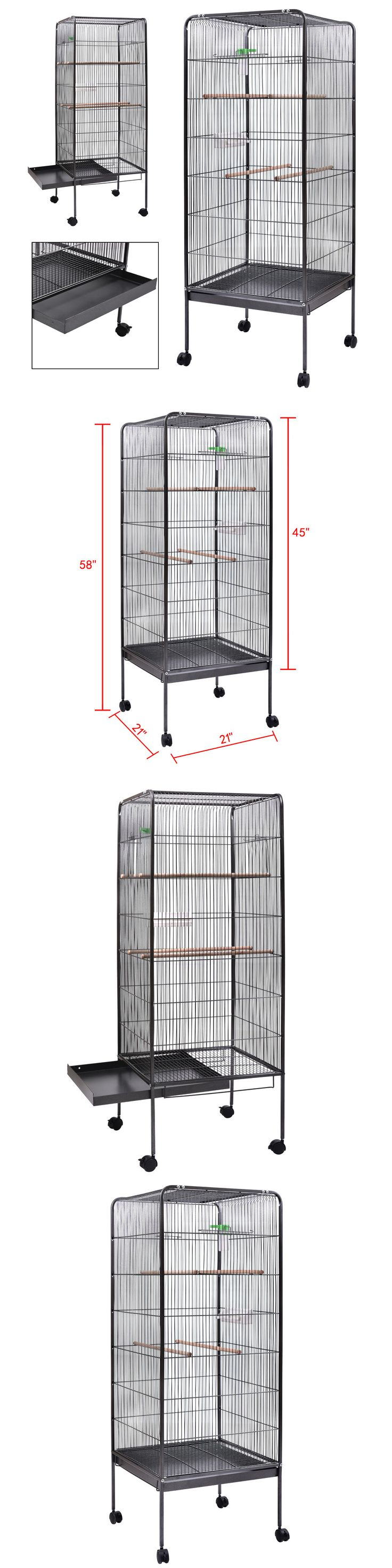 Cages 46289: Large Parrot Finch Cage 58 Bird Two Doors Play Top Pet W/ Perch Stand Flatt -> BUY IT NOW ONLY: $57.59 on eBay!