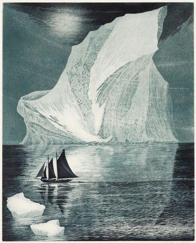 illustration by David Blackwood - Flora S. Nickerson Down on the Labrador