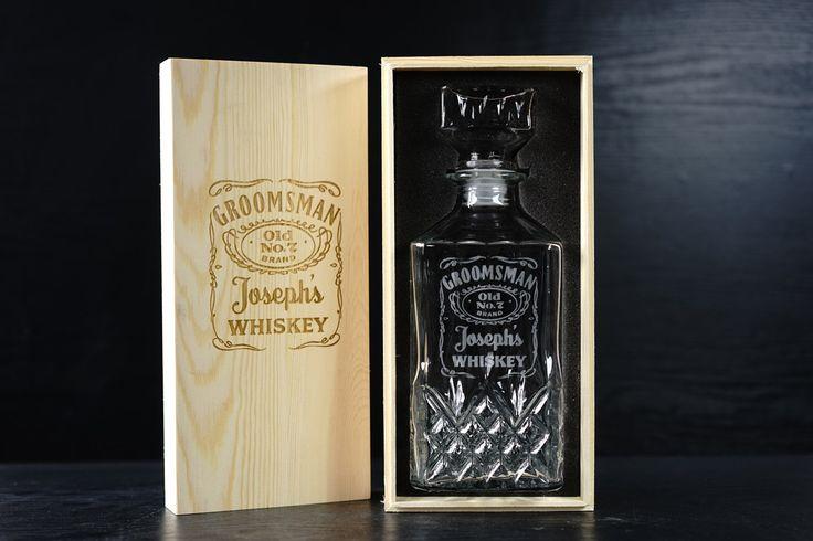 Groomsmen Gift Ideas Personalized Whiskey Decanter Usher Gift Officiant Gift Bestman Gift by AnnaEngraving on Etsy https://www.etsy.com/au/listing/261601845/groomsmen-gift-ideas-personalized