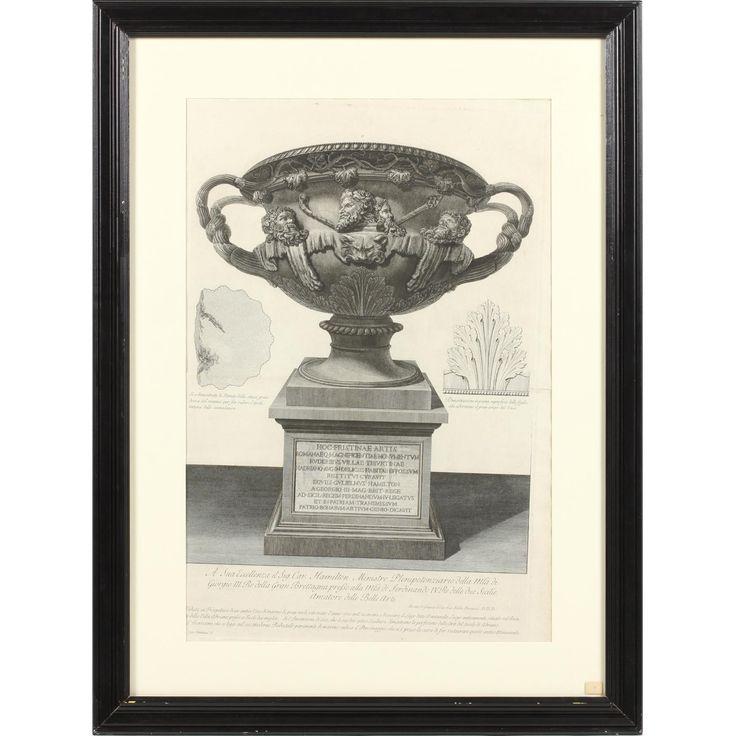 """Giovanni Battista Piranesi (1720-1778), """"Veduta in Prospettiva antico Vaso di marmo di gran mole..."""""""