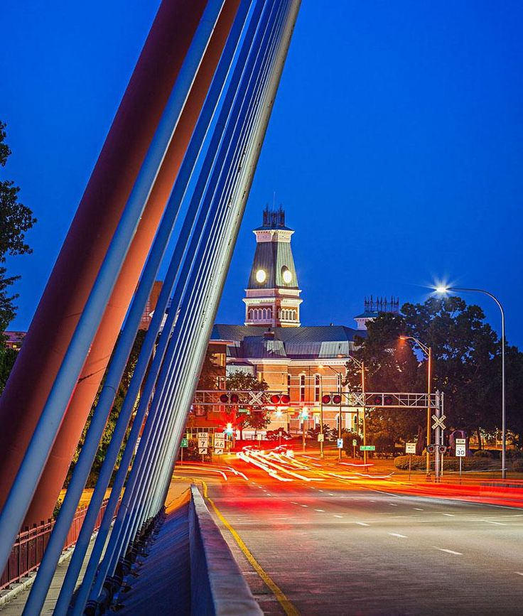 View of courthouse from Robert Stewart Bridge