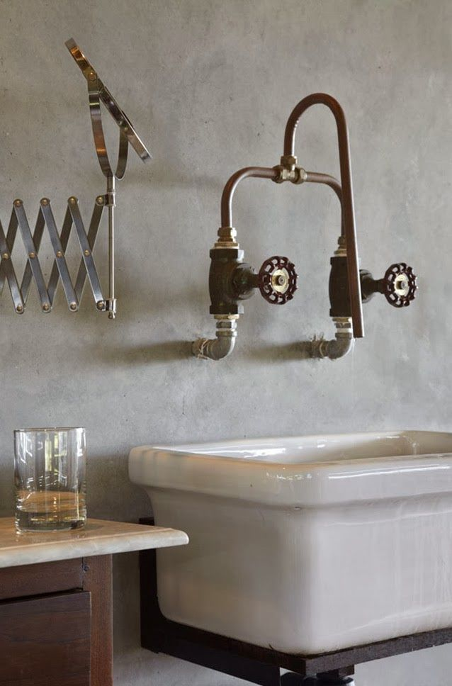 exposed plumbing - Google Search Taps along with butler type sink
